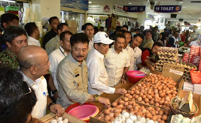 Pantau Harga Pangan, Mentan dan Mendag Kompak Sidak Pasar